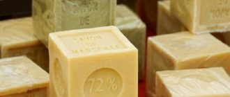 Хозяйственное мыло от папиллом